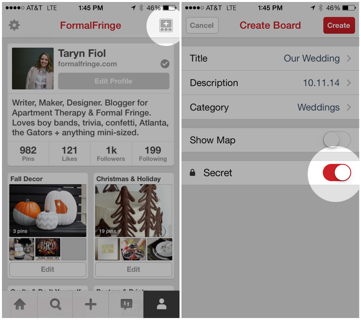 How to Create a Secret Pinterest Board on Mobile
