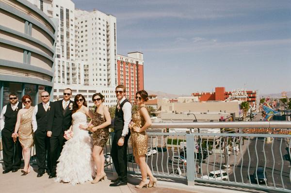 Vegas Wedding Bridal Party