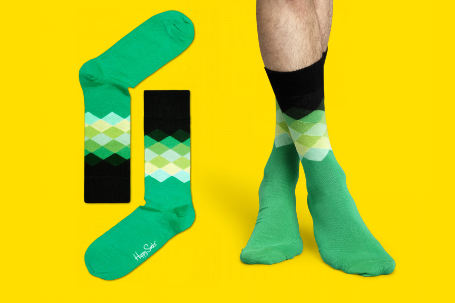 happysocksgreenblackdiamonds